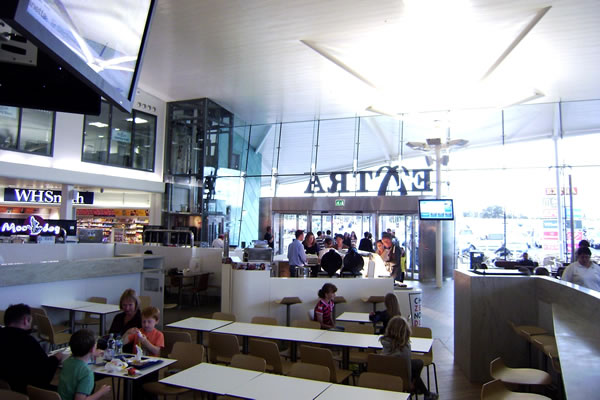 Dining area inside M25 Cobham Services